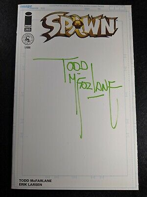 Spawn #265 Blank Gold Logo SIGNED BY TODD McFARLANE!! Ready for CGC!! (not 300)