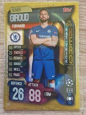 Match Attax Champions League 19/20 Hat-Trick Hero Nr.319 Olivier Giroud