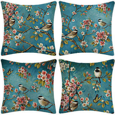 Ancient Country Style Flower Decor Pillowcases Couch Office Sofa Pillow Covers