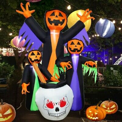 6 Ft Halloween Inflatable Blow-up Witch Pumpkin Ghost Yard Decor Outdoor Prop