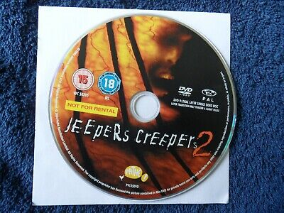 JEEPERS CREEPERS 2  (DVD 2004) - region 2 - DVD DISK ONLY
