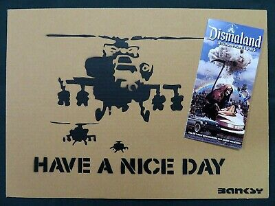 """BANKSY Dismaland """"Have a Nice Day"""" Original Drawing Numbered"""