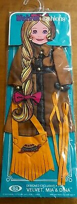 "Crissy doll family Velvet Fashions 1972 ""Frontier Gear"" for 15inch dolls  sealed"