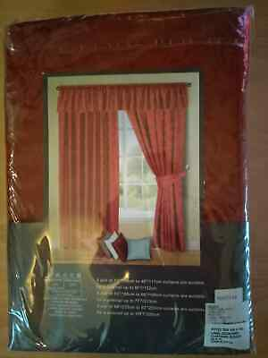 Silver Tape Top Curtains Voysey Damask Woven Lined Pencil Pleat Curtain Pairs