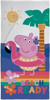 Peppa Pig Beach Ready Toddlers Kids Beach Towel 100% Cotton