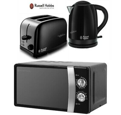 Russell Hobbs Dorchester Kettle and Toaster with Manual Microwave - Black