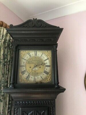 Antique English Striking Oak  Longcase Grandfather Clock made by Evans  & Sons
