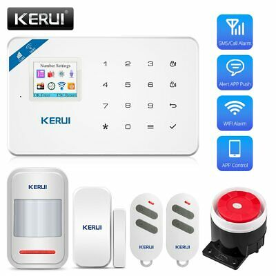 KERUI W18 Wireless WiFi GSM Alarm System Android ios APP Control  home Security