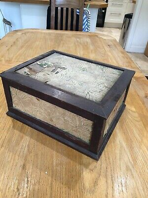 Vintage Wooden And Embroidered Box For Restoration. Sewing, Jewellery, Trinket
