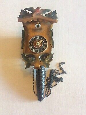 Vintage Forestall Wall Cuckoo Clock Spares Or Repair