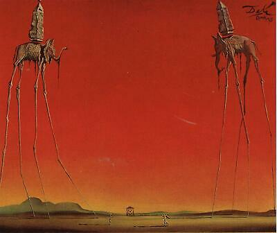 The Elephants Salvador Dali Movie Poster Canvas Picture Art Wall Decore