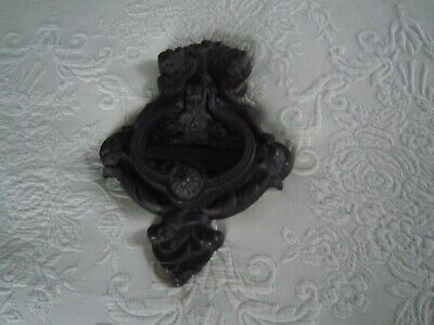 Vintage Victorian Cast Iron DOOR KNOCKER w/Cherubs NOS