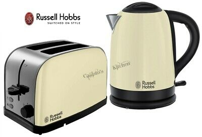Russell Hobbs Dorchester Kettle and Toaster Cream Kettle & 2-Slot Toaster - New