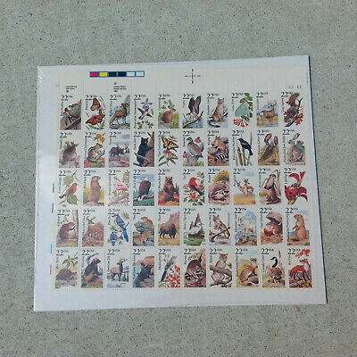 North American Wildlife Scott 2286-2335 1987 Full Sheet of 50 MNH Postage Stamps