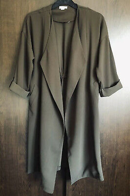 River Island Military Green Long Jacket With 3/4 Length Sleeves Age 11 Years