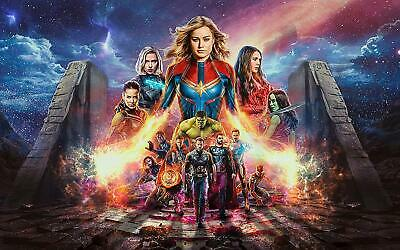 Avengers Endgame 81 Movie Poster Canvas Picture Art Wall Decore