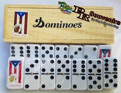 Puerto Rico Flag & Coqui Double Six Dominos - Dominoes - ( Boricua Rican )