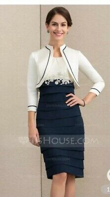 JJ's HOUSE MOTHER OF THE BRIDE /GROOM Dress And Jacket UK22 Brand New!!