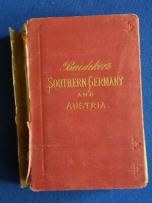 1880 Antique Travellers Guide Book STH GERMANY AUSTRIA HUNGARY TRANSYLVANIA MAPS