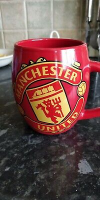 Manchester United Fc Red Tea Tub Mug Ceramic Coffee Cup New