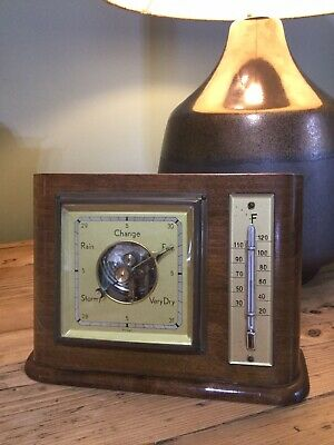 Antique SFV German Barometer & Thermometer Weather Station