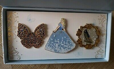 Disney Store Cinderella Live Action 2015 Limited Edition Pin Set - LE 400