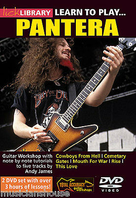 LICK LIBRARY Learn To Play PANTERA Tutor COWBOYS FROM HELL RISE ROCK GUITAR DVD