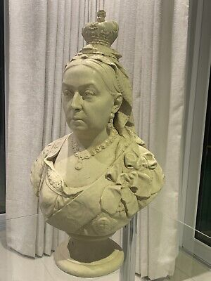 Very Rare Old Queen Victoria Statue Bust Queen Vic Eastenders Royalty