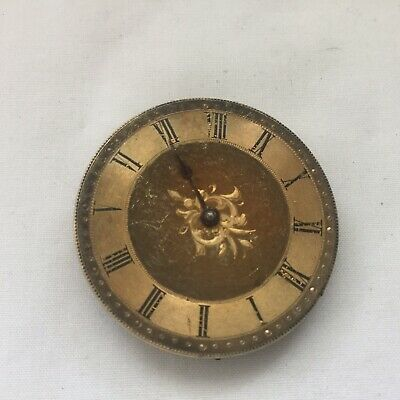 Vintage Pocket Watch Movement Only With Gilded Dial