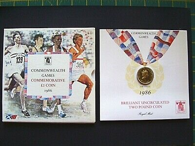 Commonwealth Games Brilliant Uncirculated Commemorative £2 coin 1986