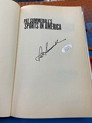 Pat Summerall Signed Book Sports In America JSA Cert