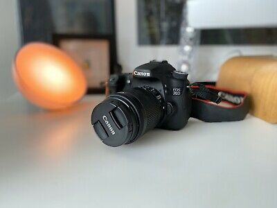 Canon EOS 70D 20.2MP Digital SLR Camera Black with 18-55mm STM Lens with Bag