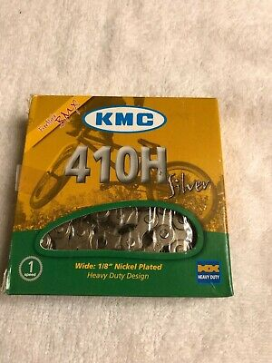 "NEW KMC 410H-NP Chain 1//8/"" 98 Links Silver"
