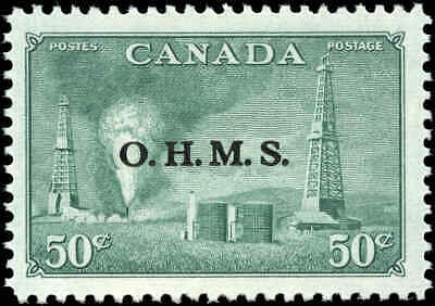 Stamp Canada Mint F-VF Scott #O11 50c Overprinted OHMS Resources Hinged
