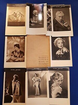 Vintage Real Photos Prints Glamour Fashion, Ladies Specimens ILFORD Limited RARE