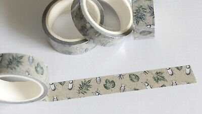 Garden bugs washi tape, nature, insects, 15mm x 5m