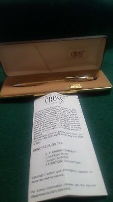 VINTAGE CROSS 1 /20 10 kt GOLD FILLED 4502 BALL PEN WITH BRAWN