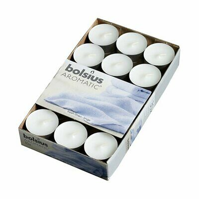 Bolsius Tealight with Scent Fresh Linen Box 30 Brand New Fast Postage