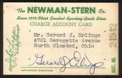 The Newman-Stern Co. Sporting Goods Ohio PAPER Merchant Credit Card