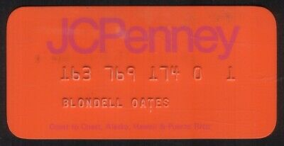 Vintage JCPenney & The Treasury Stores Princess Size Merchant Credit Card