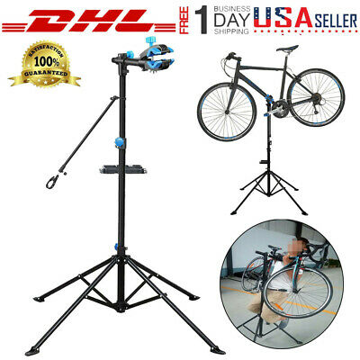 """Pro Adjustable Bike Repair Stand w/ Telescopic Arm 51"""" To 74"""" Cycle Bicycle Rack"""