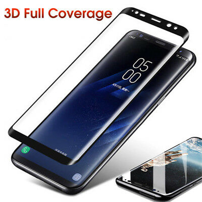 Full Cover Tempered Glass Screen Protector For Samsung Galaxy S9 S8 Plus Note8 9