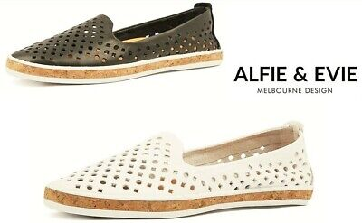Alfie and Evie Slip on leather soft flats Alfie & Evie Grace