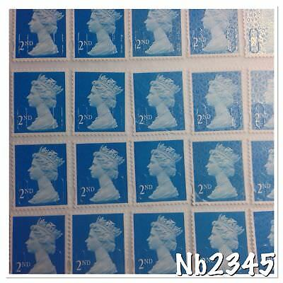 203 X 2nd Class Peel N Stick Totally Unfranked Stamps FV £122