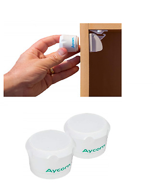 Replacement Spare Keys (x2) for AYCORN Child Baby Safety Proof Magnetic Cupboa