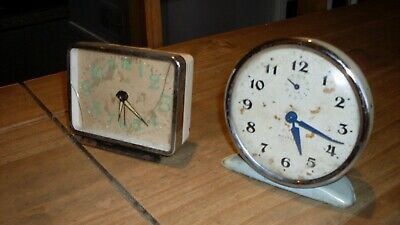 Two Old Collectable Mechanical Alarm Clocks