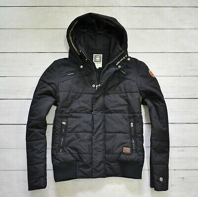 G Star Raw Men's Whistler Hooded Down Jacket in Raven