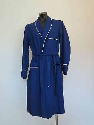 Man's Vintage Royal Blue Dressing Gown, Robe by Smartex - 1970s