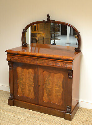 Stunning Victorian Flamed Mahogany Antique Chiffonier