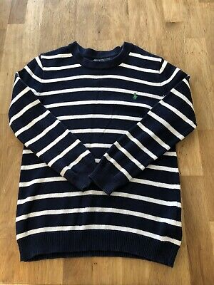 SS90 Polo By Ralph Lauren Boys Age/Size 6 Navy&White Striped Cotton Jumper